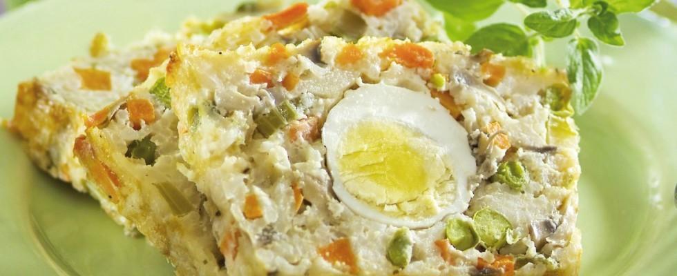 Plumcake primavera salato con verdure e uova al bimby