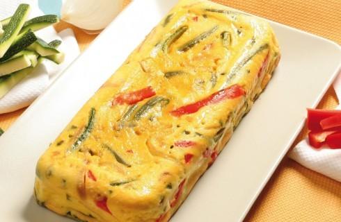 Plumcake salato di uova e verdure al bimby