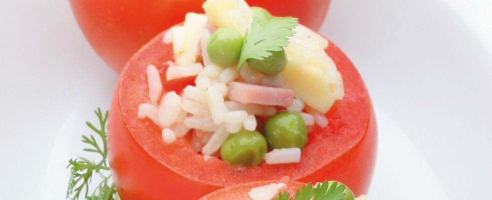 Pomodori ripieni con riso al bimby