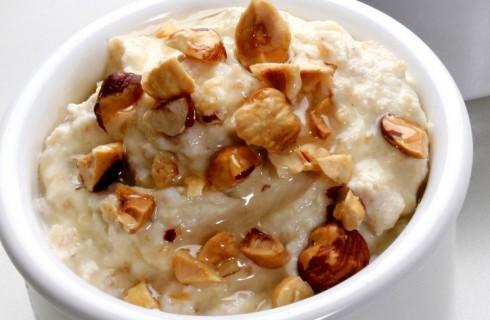 Porridge di fiocchi di avena con nocciole al bimby