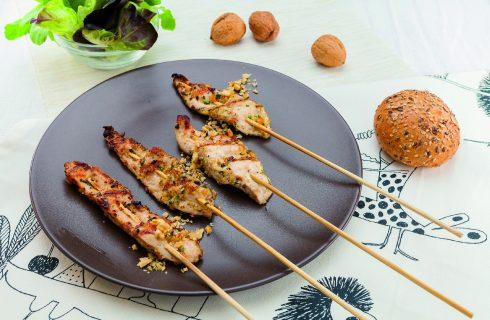 Spiedini di pollo fantasia al barbecue, per il pranzo