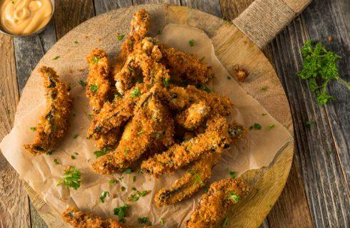 La ricetta dei funghi champignon fritti in pastella