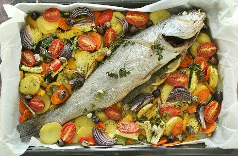 Ombrina al forno con verdure: secondo piatto leggero e saporito