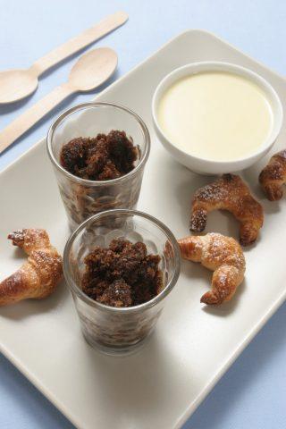 Cornetti con granita al caffè e crema bianca al bimby