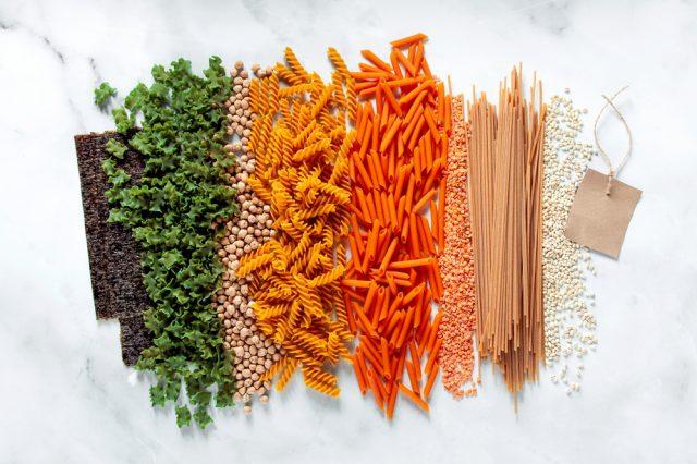 diversi tipi di pasta