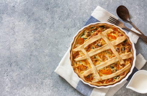 La torta salata con zucca e castagne per una cena gustosa