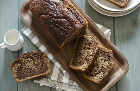 Banana bread variegato: la giusta dose di energia
