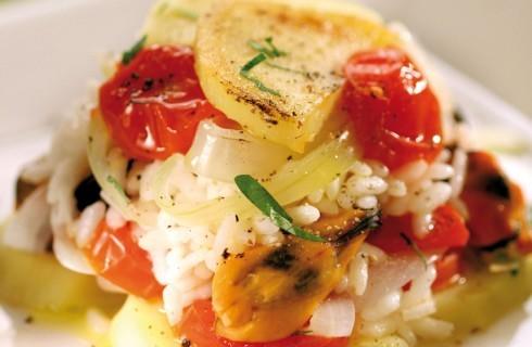 Riso con pomodorini, patate e cozze al bimby