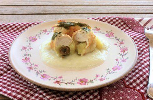 Involtini di tacchino ripieni di olive e patate al bimby