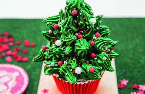 Abete di Natale: un cupcake delle feste