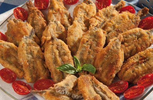 Alici ripiene con pesto al basilico e lime