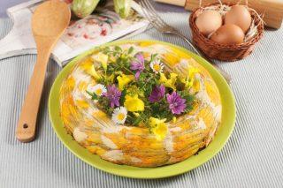 Anello di zucchine in fiore: gustoso