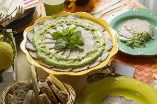 Arrosto freddo di maiale con salsa di zucchine alla menta: la ricetta