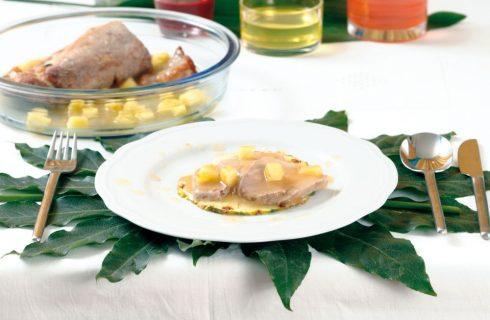 Arrosto di maiale all'ananas