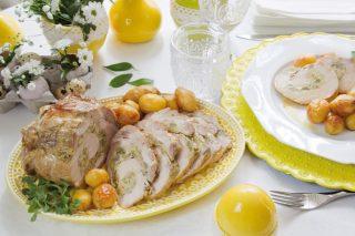 Arrosto di maiale con carciofi e patate: secondo e contorno
