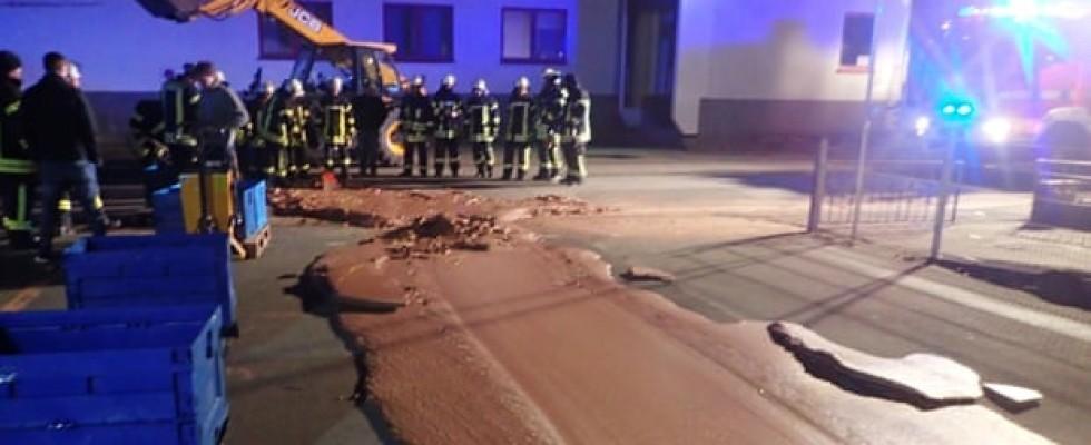 In Germania un difetto di fabbrica crea una strada di cioccolato