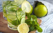 Acqua detox al cetriolo limone e menta