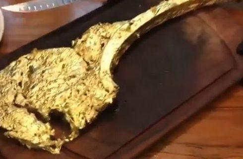 Cibi ricoperti d'oro, dal risotto di Marchesi alla bistecca di Ribery