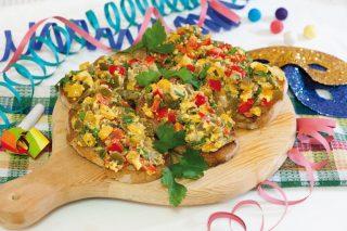 Bruschette del giovedì grasso con i peperoni