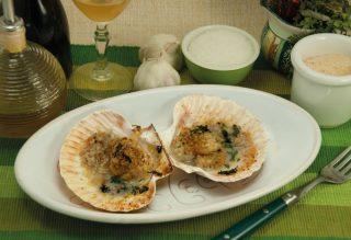 Capesante gratinate all'aglio, antipasto delle feste
