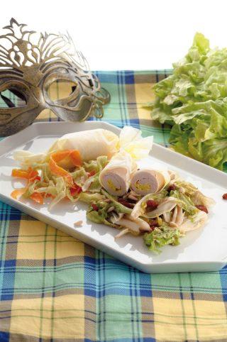 Involtini di pollo con verdure: secondo leggero