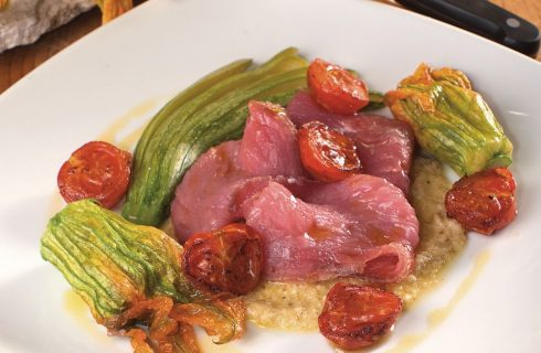 Carne salata con verdure: secondo leggero