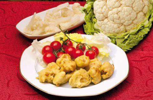 Cavolfiore fritto al curry: per l'antipasto