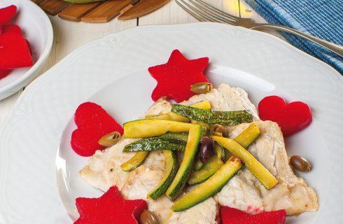 Cernia alla ligure con verdure: per cena