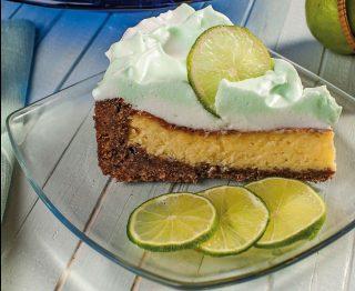 Cheesecake glassato al lime: per dessert