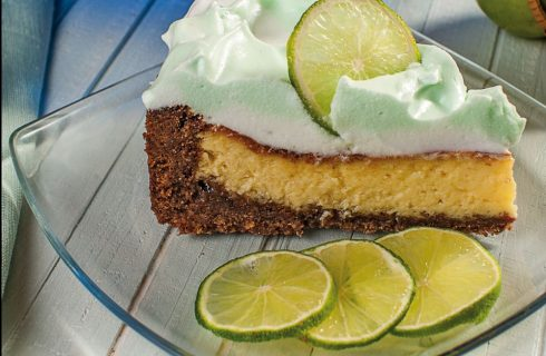 Cheesecake glassato al lime: per dessert