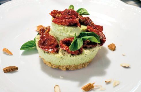 Cheesecake di pomodoro e basilico: estiva