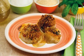 Cipolle gratinate: contorno di verdure