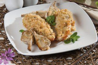 Coda di rospo gratinata alla menta: per cena