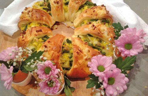 Corona pasquale con asparagi