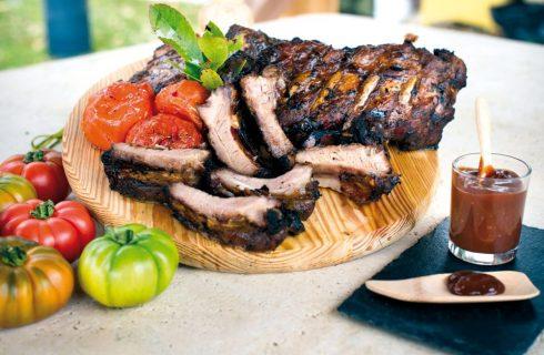 Costolette di maiale con salsa BBQ