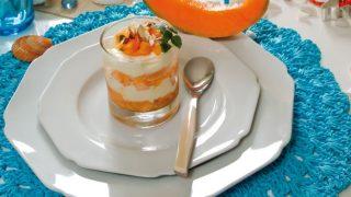 Cremoso semifreddo con melone, menta e zenzero