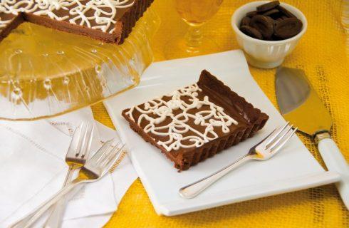 Crostata al cioccolato con ganache al cioccolato