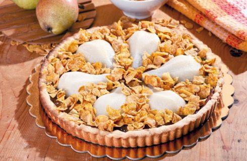 Crostata con pere e cornflakes