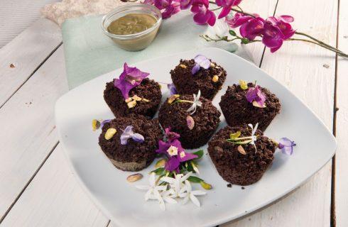 Crumble al cacao con pistacchi: per merenda