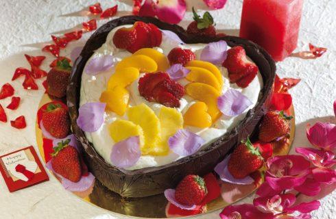 Cuore di crostata al cioccolato, per gli innamorati