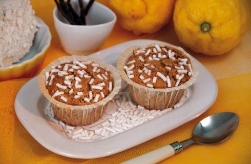 Muffin alla ricotta con limone e vaniglia