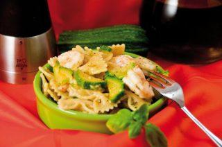 Farfalle zucchine e gamberetti: primo piatto