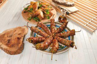 Friggitelli ripieni di salsiccia al barbecue