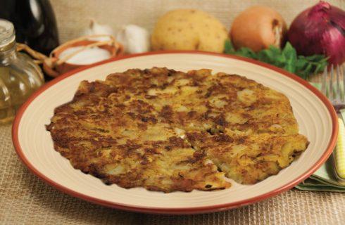 Frittata con patate e finocchio selvatico