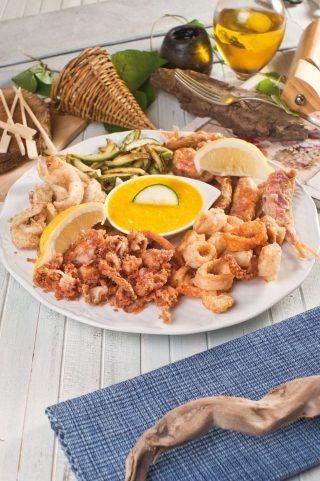 Frittura di mare e verdure