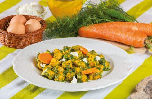 Gnocchi di carota al finocchietto