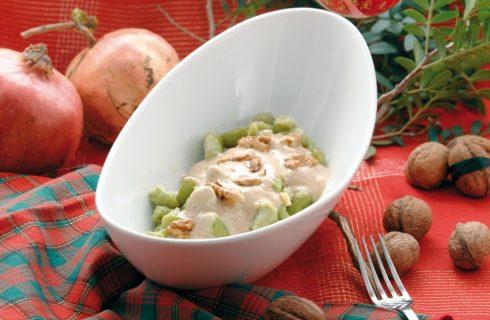 Gnocchi di spinaci alla salsa di noci