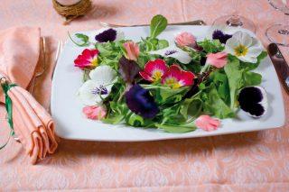 Insalata di fiori e misticanza