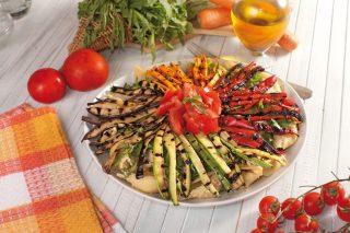 Insalata di pasta con verdure alla griglia