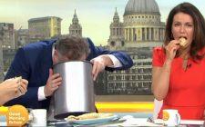 Sputa nel cestino il cibo vegano, il volgare gesto di Piers Morgan in diretta tv